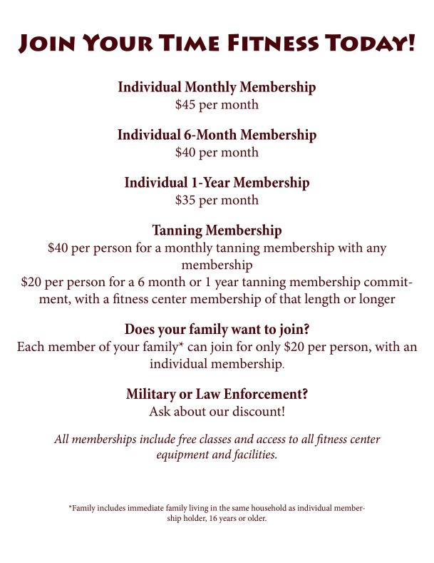membership info for website