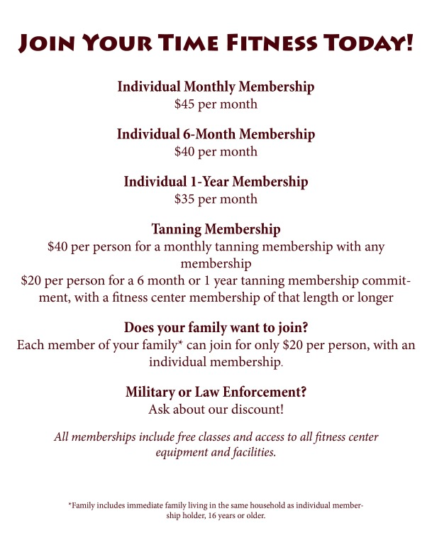 membership info for website